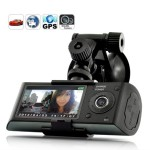 LUJII-27-inch-screen-Dual-Camera-5MP-Car-Blackbox-DVR-with-GPS-Logger-and-G-Sensor-X3000-New-Version-0
