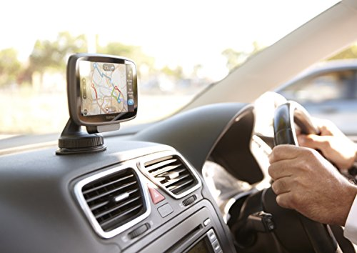 TomTom GO 5100 5 inch Sat Nav with World Maps Sim Card and Unlimited Data Included Black